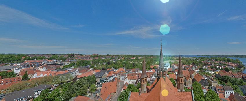 Schleswig von oben